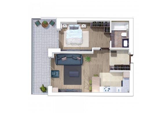 Apartament 2 Camere - 2F