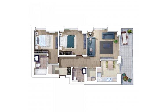 Apartament 3 Camere - 3F