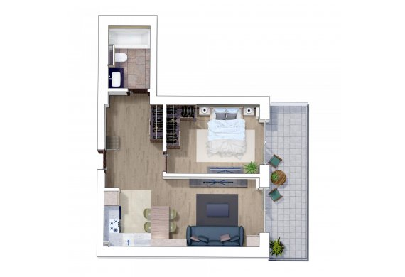Apartament 2 Camere - 2G