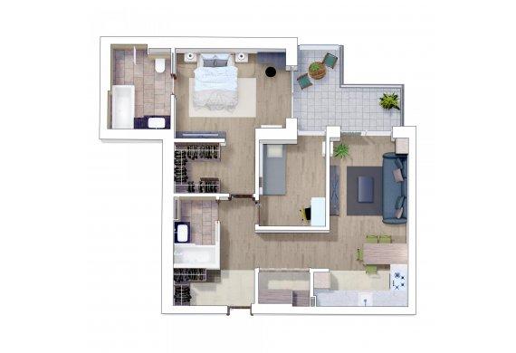 Apartament 3 Camere - 3G