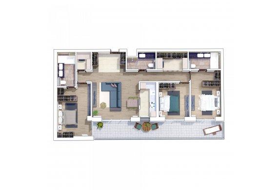 Apartament 4 Camere - 4H