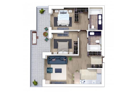Apartament 3 Camere - 3H