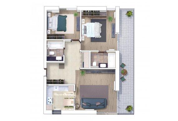 Apartament 3 Camere - 3I