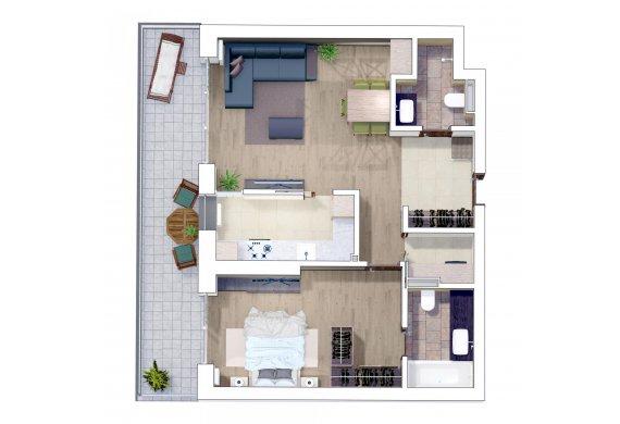 Apartament 2 Camere - 2K