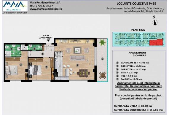 Apartament 3 Camere - 3C TIP 1