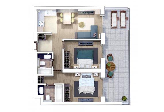 Apartament 3 Camere - 3P