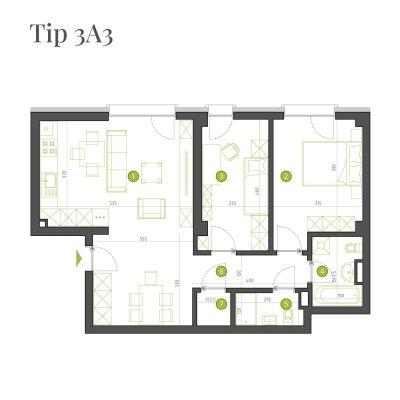 Apartament 3 Camere - 3A3