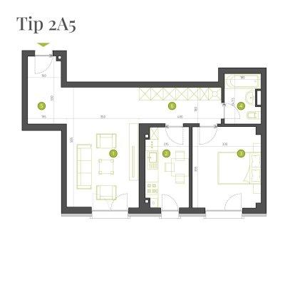 Apartament 2 Camere - 2A5