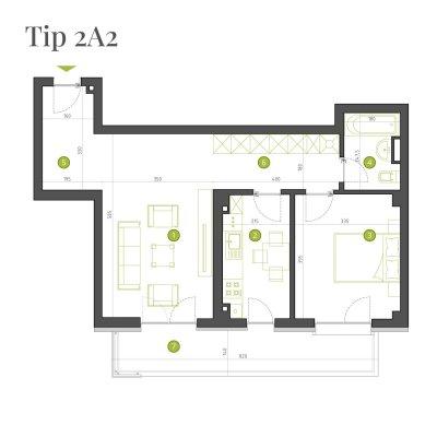 Apartament 2 Camere - 2A2