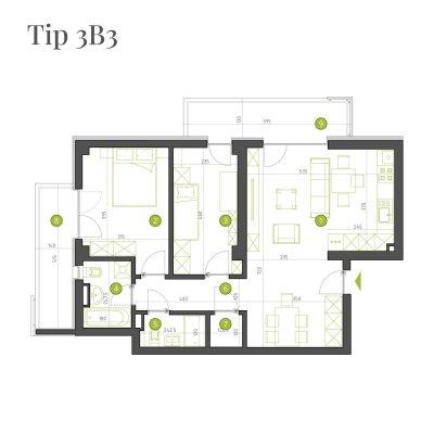 Apartament 3 Camere - 3B3