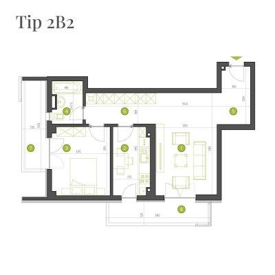 Apartament 2 Camere - 2B2