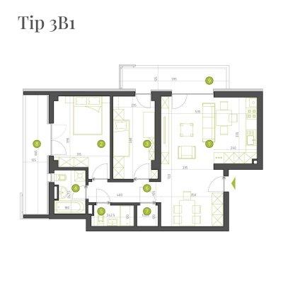 Apartament 3 Camere - 3B1