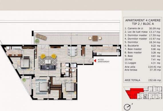 Apartament 4 Camere - 4C TIP 2
