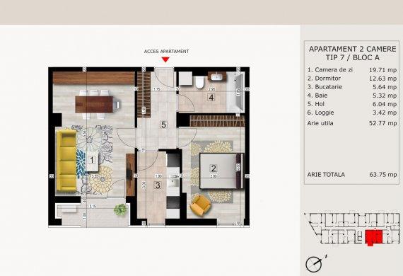 Apartament 2 Camere - 2C TIP 7