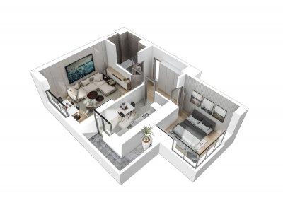 Apartament 2 Camere - 2H Scara 1