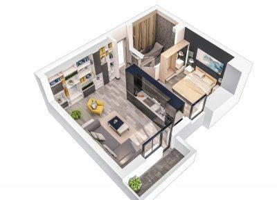 Apartament 2 Camere - S2 Scara 2