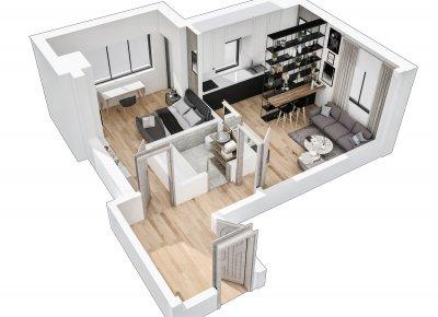 Apartament 2 Camere - S1 Scara 2